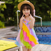 Summer Dresses For Girls Mesh Ruffle Kids Dress Dresses Kids Now Apparel