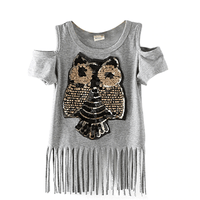 Summer Tassels Girls Sequin Shirt For Teenage Girl Tops & Tees Kids Now Apparel