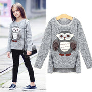 Sweater For Toddler Girl Fleece Sweatshirt Owl Print Tops Sweaters Kids Now Apparel