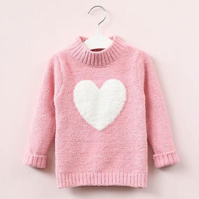 Sweatshirt For Girls Heart Sweater Warm Fleece Pullover Sweaters Kids Now Apparel