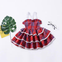 Tiered Ruffle Backless Toddler Plaid Dress Dresses Kids Now Apparel