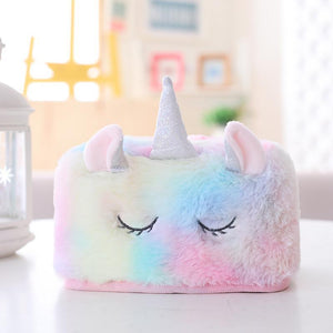 Tissue Box Holder Unicorn Napkin Box Plush Home Decor Stuffed & Plush Animals Kids Now Apparel
