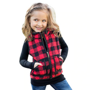 Toddler Vest Girl Sleeveless Coat Vest Kids Plaid Coat Vests Kids Now Apparel