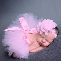 Tutu Skirt + Headband Photo Prop Baby Girl Costumes Kids Now Apparel