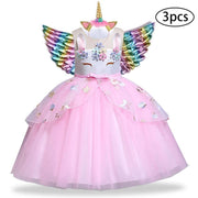 Unicorn Dresses For Girls Kids Party Costumes Set Dresses Kids Now Apparel