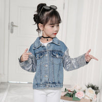 Unicorn Glitters Jean Jacket For Toddler Girl Jackets & Coats Kids Now Apparel