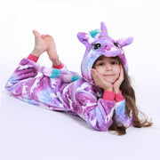 Unicorn Pajamas For Girls Sleeper With Hood Blanket Sleepers Daisy Dress For Less