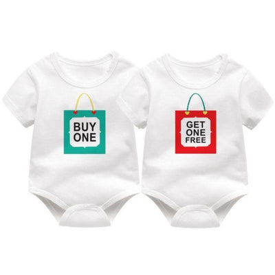 Unisex Printed Fashion Newborn Bodysuits For Twins Kids Now Apparel