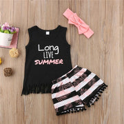 Vest Top+Floral Shorts With Headband Baby Girl Summer Clothes Clothing Sets Fantasy Babys Store