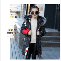 Winter Jackets For Girls Padded Faux Fur Hooded Coat 2T-14yo Down & Parkas Kids Now Apparel