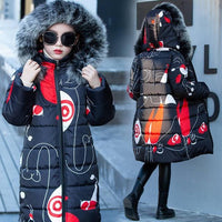 Winter Jackets For Girls Padded Faux Fur Hooded Coat Down & Parkas Kids Now Apparel