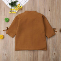 Woolen Jackets Toddler Girl Trench Coat Jackets & Coats Kids Now Apparel