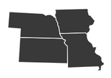 Missouri, Iowa, Nebraska, and Kansas