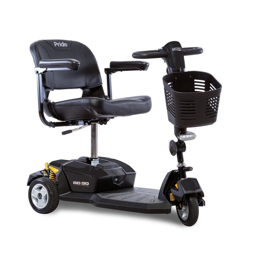 Pride® Go-Go® LX with CTS Suspension 3-Wheel - Onyx Black