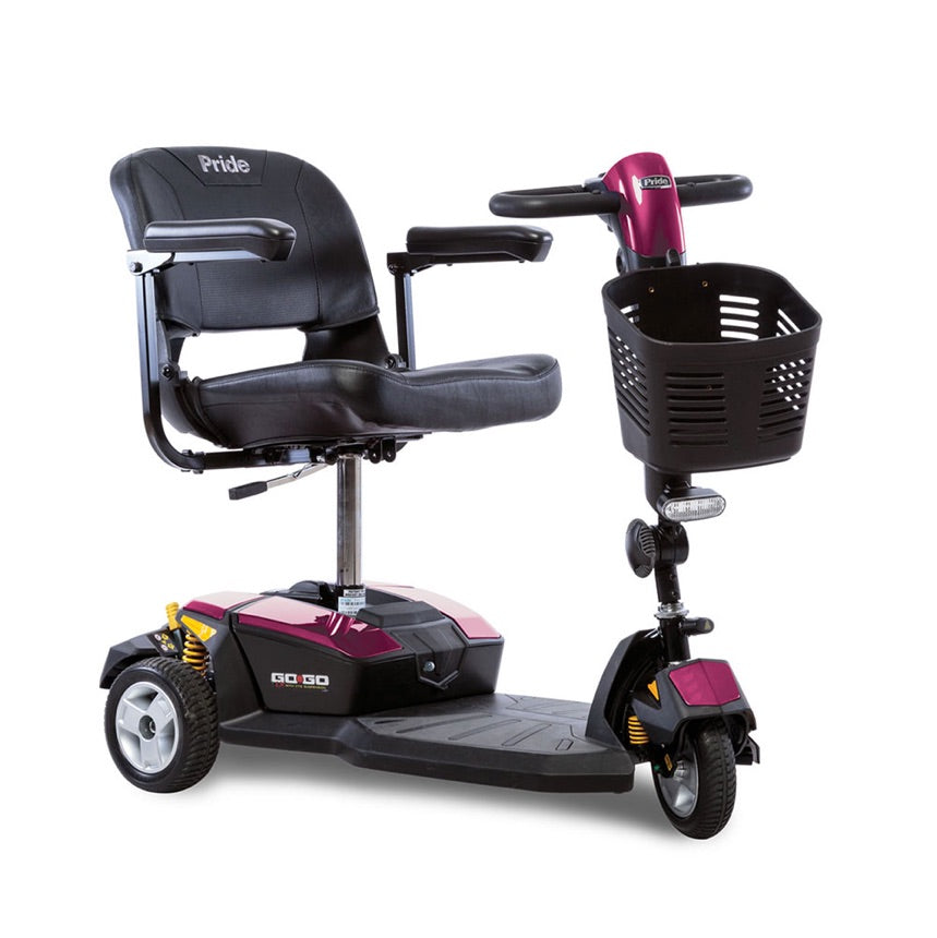 Pride® Go-Go® LX with CTS Suspension 3-Wheel - Pearl Pink