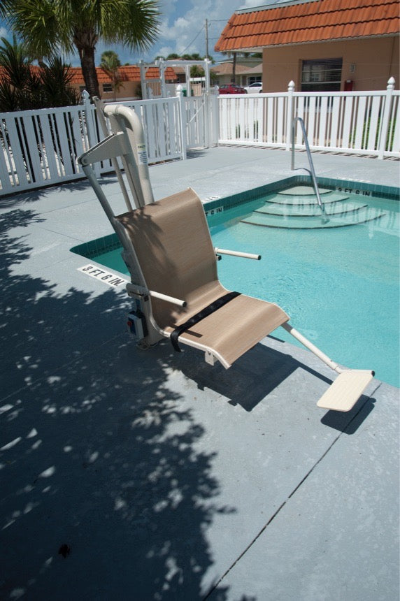 Harmar P350 Bolt-Mounted Pool Lift - outdoors