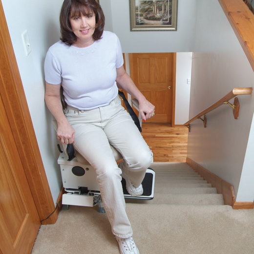 Harmar SL350AC Indoor AC Straight Stair Lift - in use