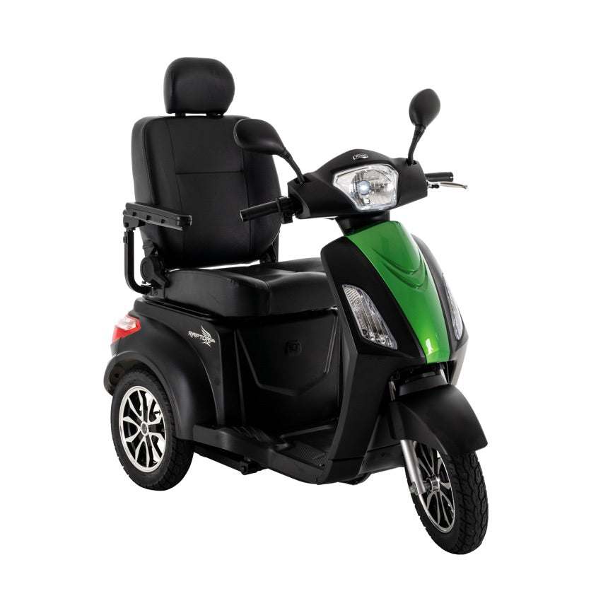 Pride Mobility Raptor (Black) 3-Wheel Scooter - Green Machine