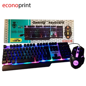 Mouse + Teclado Gamer WB-500 - Cable de 1.5M