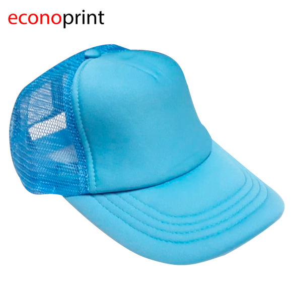 Gorras Camioneras para Adulto tipo TOM. Colores Enteros. Celeste.