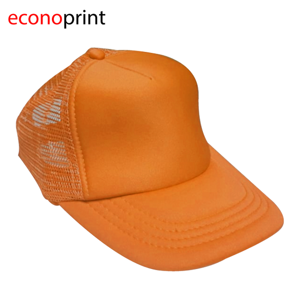 Gorras Camioneras para Adulto tipo TOM. Colores Enteros. Naranja.