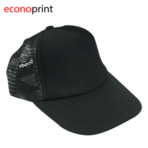 Gorras Camioneras para Adulto tipo TOM. Colores Enteros. Negro.