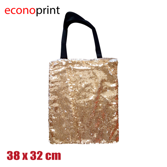 Bolso shopper dorado