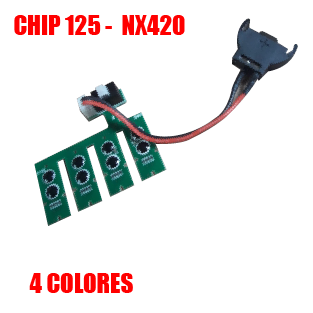 Chip 125 Version 6.0 - 4 Colores - NX420