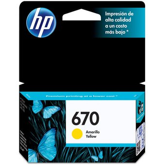 Cartucho HP 670 Yellow