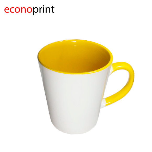 Taza conica interior Amarillo