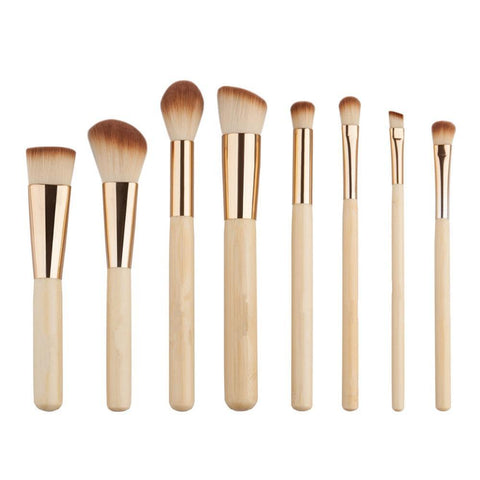 8 Piece Bamboo Brush Set