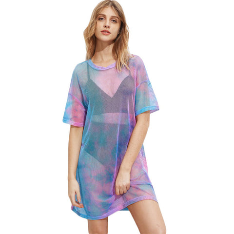 Aurora Borealis Cover Up Dress