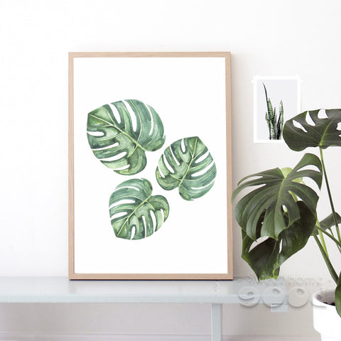 Tropical Leaves Canvas Art