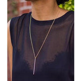 Long Chain Stick Pendant Necklace