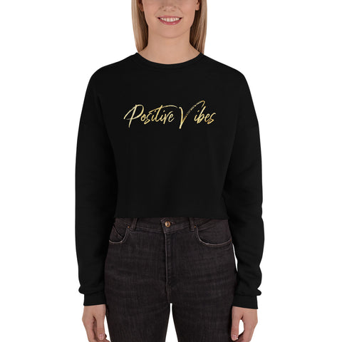 Positive Vibes Crop Sweatshirt