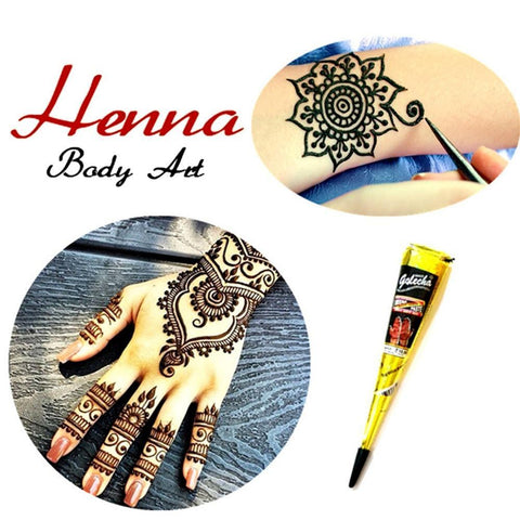 Henna Paste Cone Temporary Tattoo