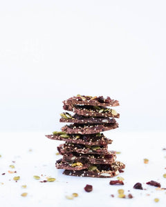 CRANBERRY QUINOA CHOCOLATE BARK