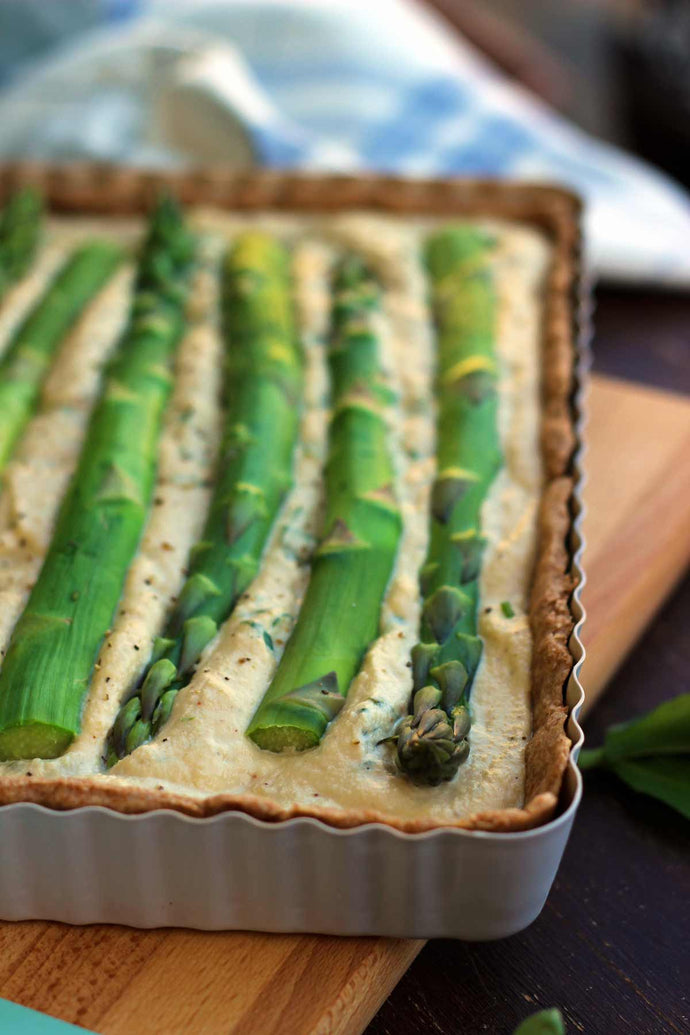 VEGAN QUICHE WITH ASPARAGUS