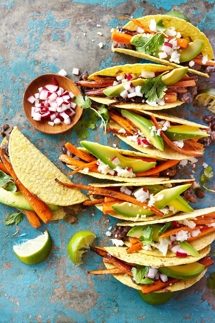 CARROT & BLACK BEAN TACOS