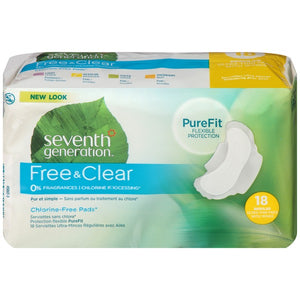Seventh Generation Regular Pads (18 Count)