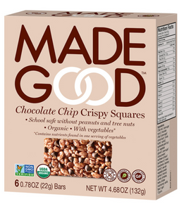 MadeGood Chocolate Chip Crispy Squares (6 Bars)