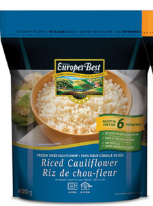 Europe's Best Frozen Riced Cauliflower (400g)