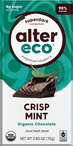 Alter Eco Dark Crisp Mint Chocolate Bar 75g