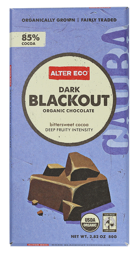 Alter Eco Dark Blackout Chocolate Bar 80g