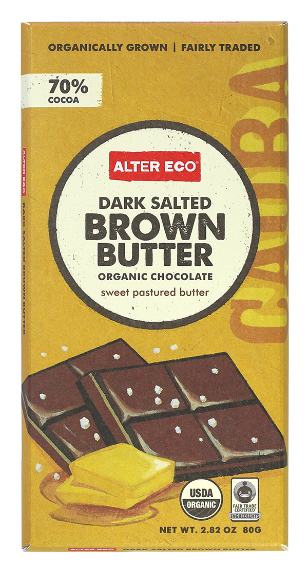 Alter Eco Dark Salted Brown Butter Chocolate Bar 80g