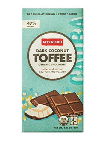 Alter Eco Dark Coconut Toffee Chocolate Bar 80g