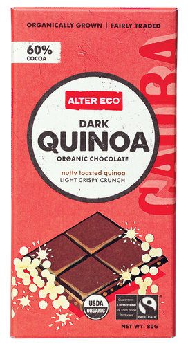 Alter Eco Dark Quinoa Chocolate Bar 80g