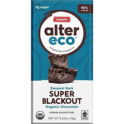 Alter Eco Super Blackout 90% Chocolate Bar (75g)