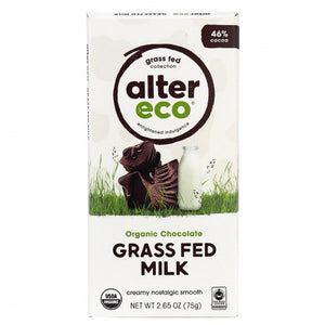 Alter Eco Organic Grass Fed Milk Chocolate Bar 75g