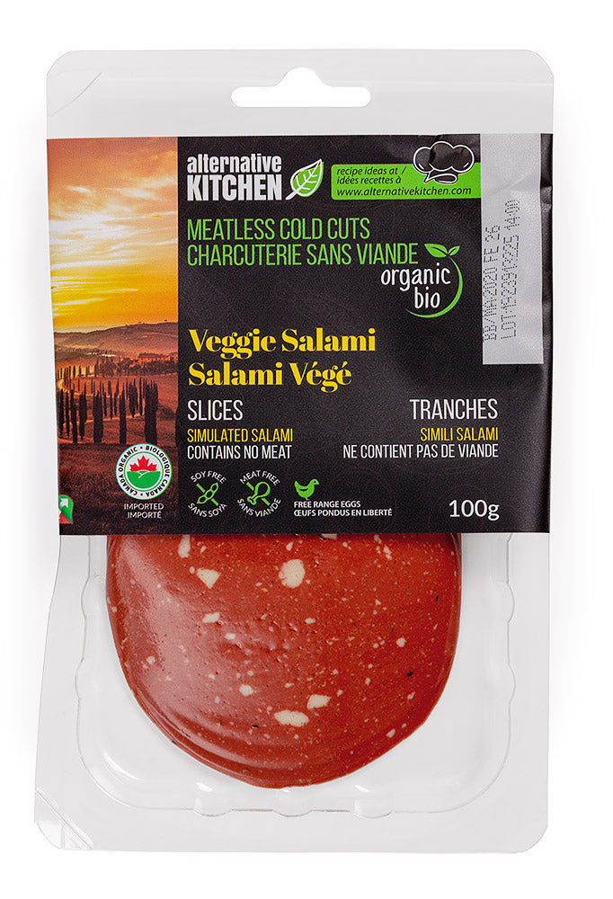 Alternative Kitchen Meatless Veggie Salami Slices (100g)